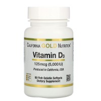 Vitamin D3 125 mcg (5000 IU)  90 Fish Gelatin Softgels